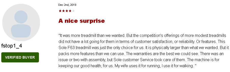 What Are the Customer Reviews Saying about Sole F63