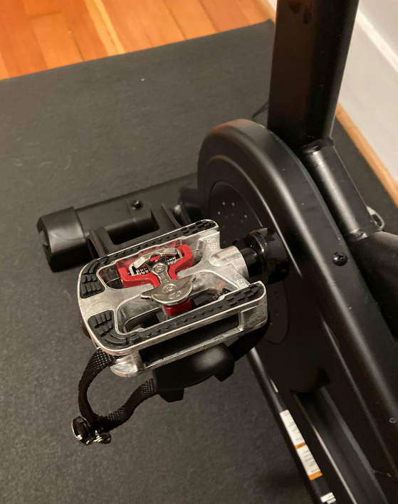 The flywheel on both the Schwinn IC4 and the Bowflex C6 make both bikes really quite