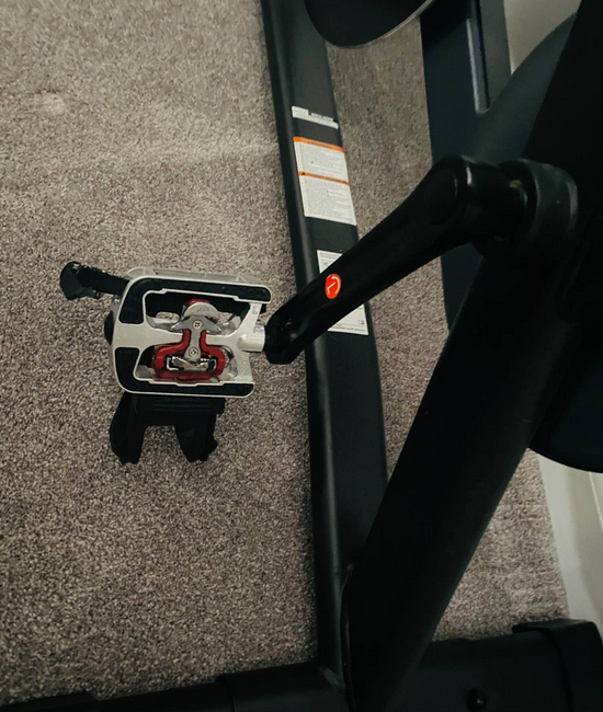 Both the Bowflex C6 and the peloton have a quite magnetic flywheel