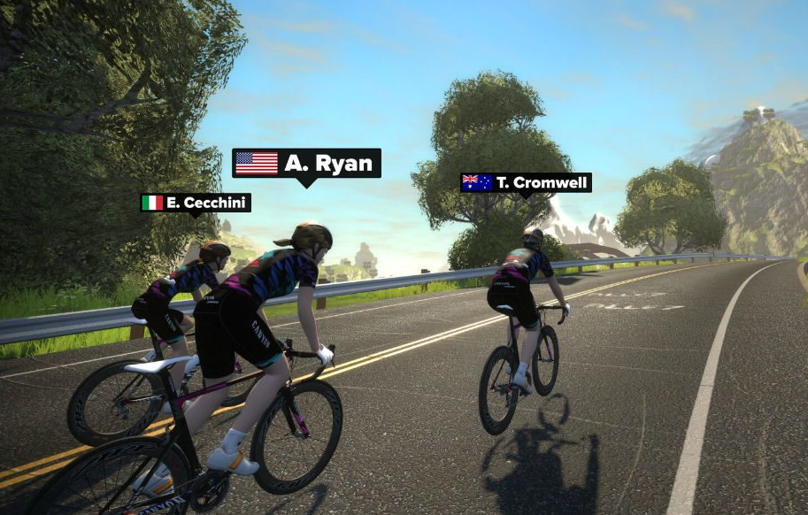 A great benefit to Zwift is it Connects You to Real People