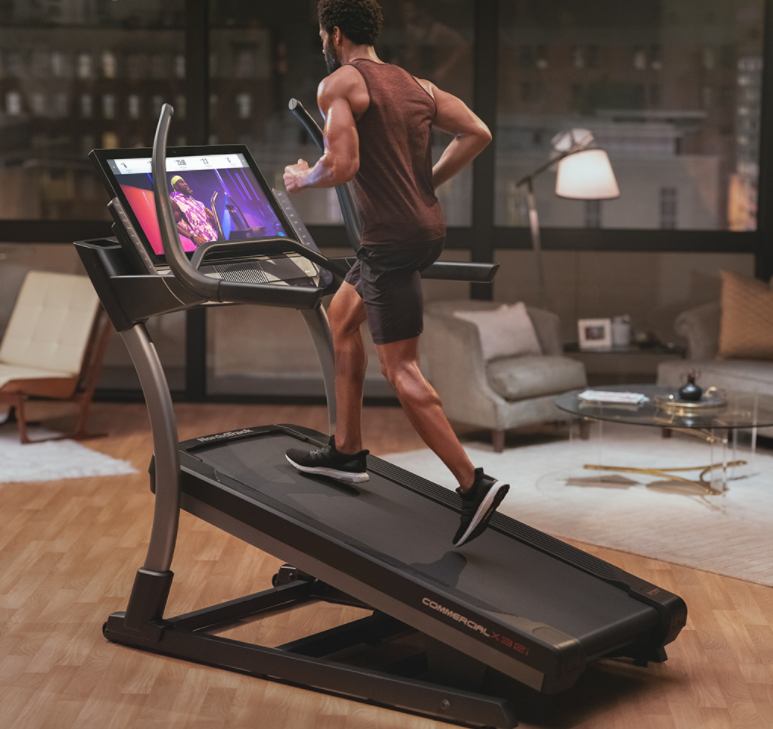 A great benefit of a Having a Home Treadmill is using Interactive Workouts