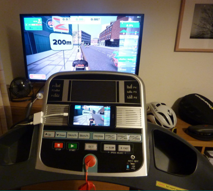 Incline Treadmills Allow for Interactive Training and Gaming (Zwift)