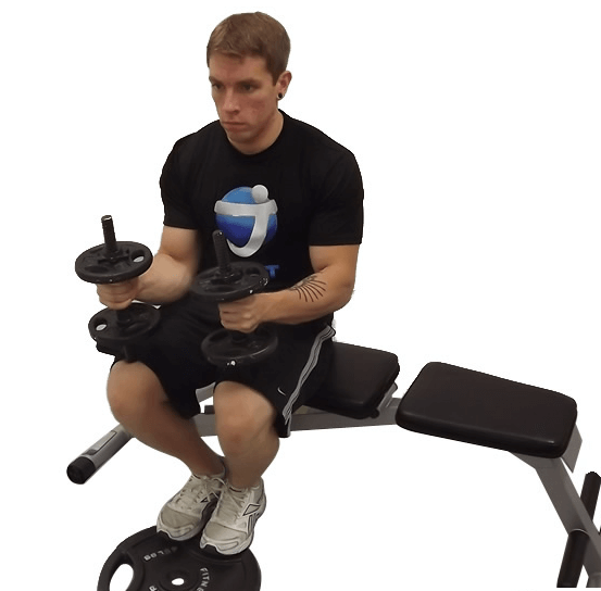 Dumbbell Seated Calf Raises (Without the Machine) is one of Variations of The Seated Calf Raise