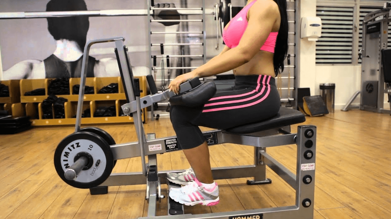 Seated Calf Raises With the Machine is one of Variations of The Seated Calf Raise