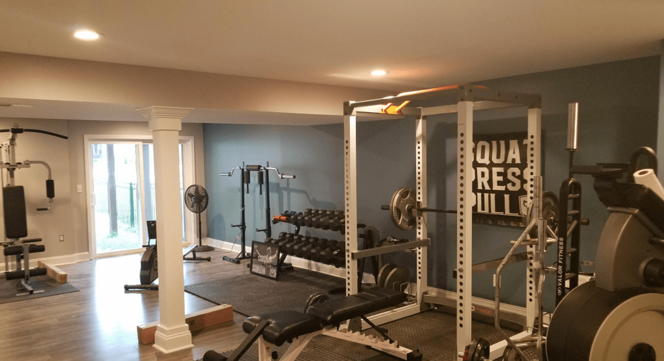 short barbells are an amazing addition to basement gyms