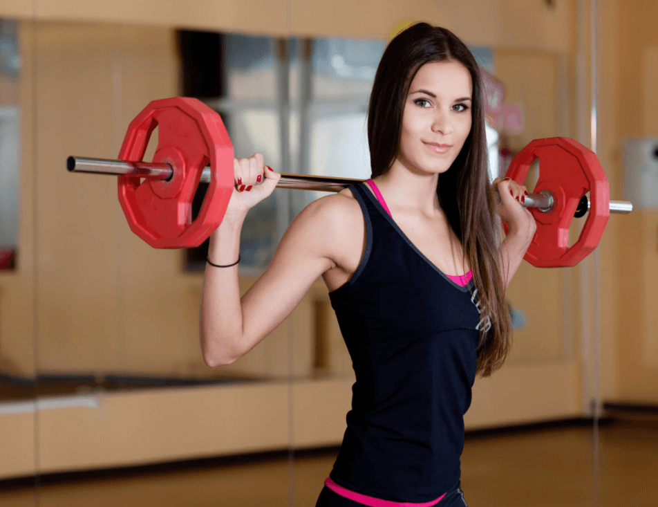 Short barbells are great for women