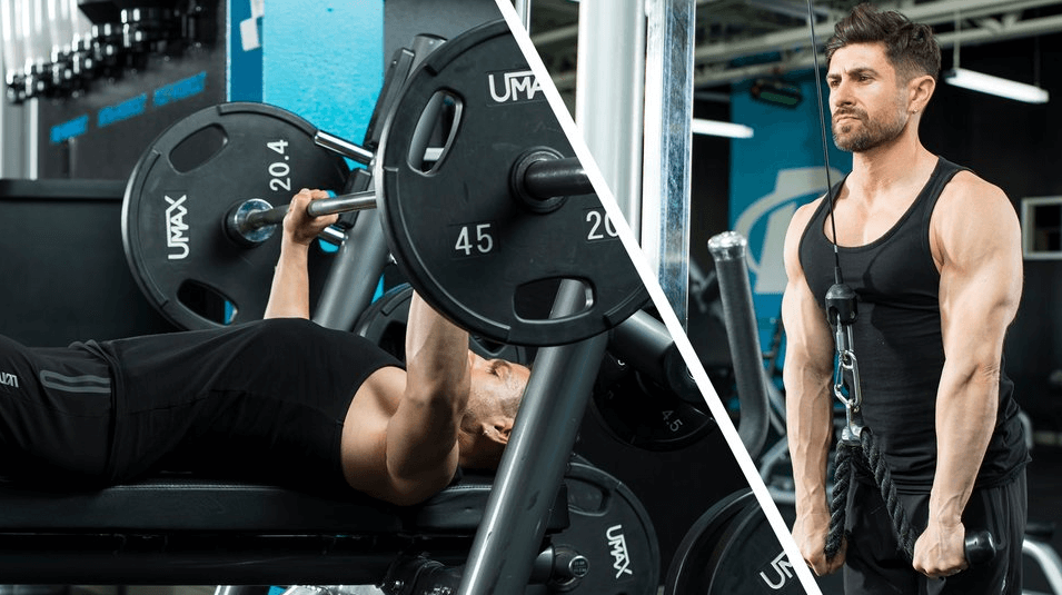 How to Distribute the Indicated Amount of Sets for Chest and Triceps Throughout the Week