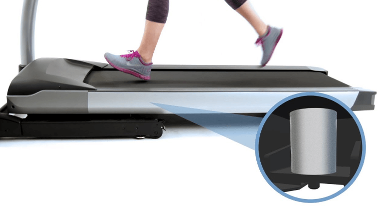 Variable flex cushioning is great because the deck only moves on the verticla plane, reducing shear forces on your joints