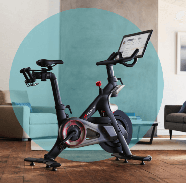 What are the design features of the peloton bike