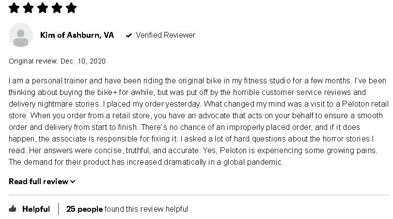 peloton bike plus customer review