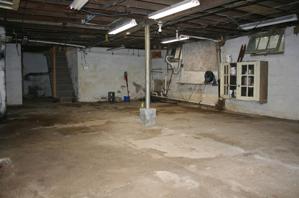Clear and prepare the basement before getting to work