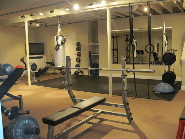 Basement gym gives you the convenience of working out at home