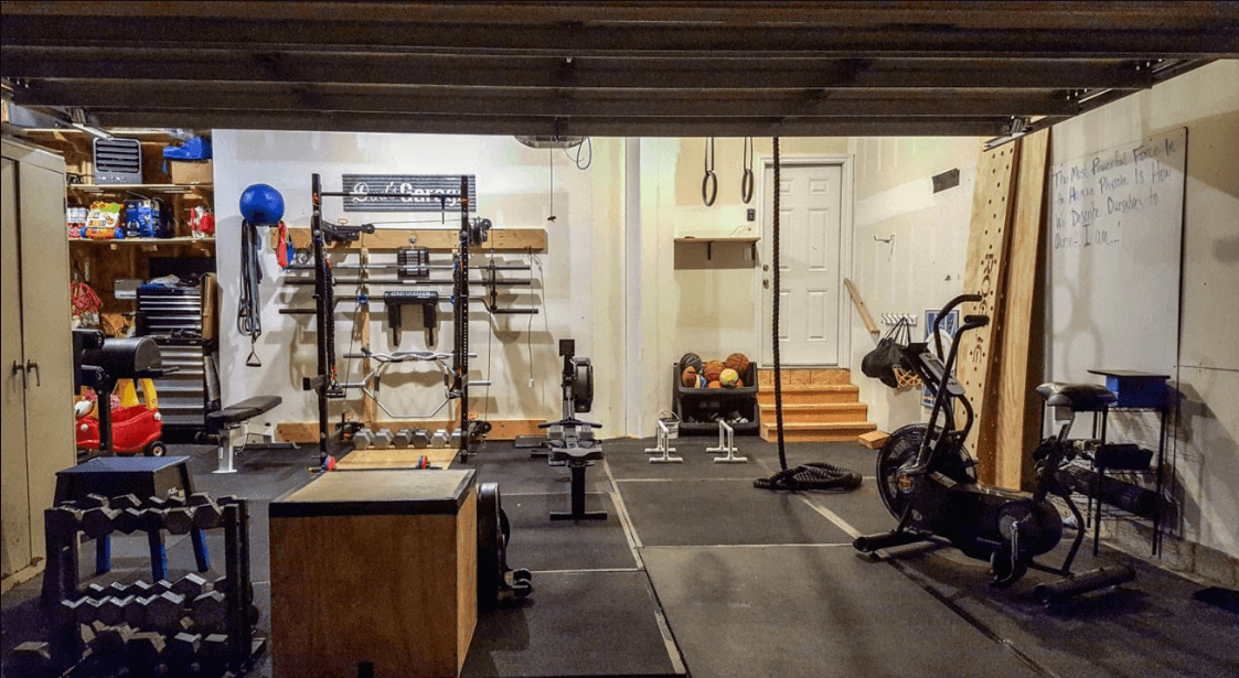 Have your basement gym plan set