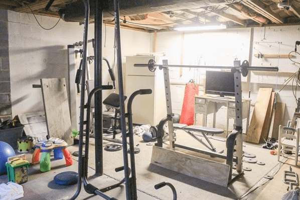 Fitting equipment in your basement gym can be a challenge