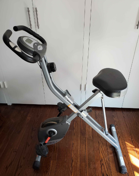 With a 300-pound capacity and magnetic resistance, the Exerpeutic bike is a go-to option