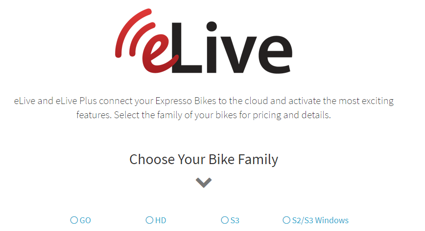 The eLive membership comes in handy if you want to really enjoy what this bike has to offer