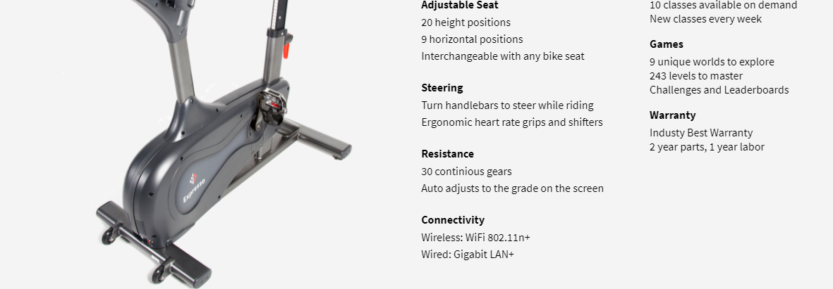 I also didn't like the fact this bike comes with only a 2-year warranty