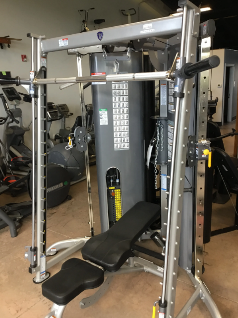In such cramped gyms, every inch of available space counts