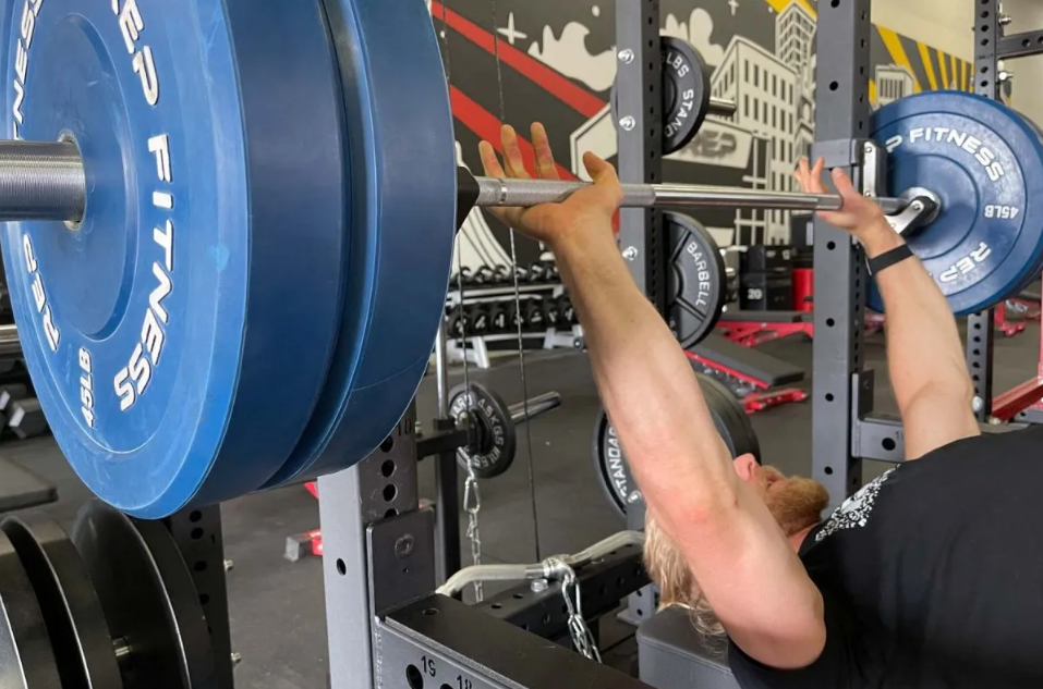 The rep gladiator bb-5000 barbell is built for power