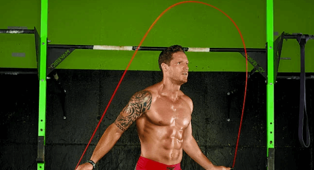 Jump rope exercise is also good for the core and hips
