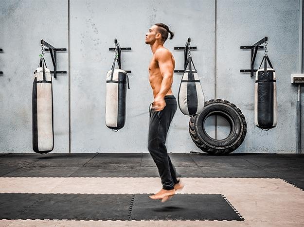Jump ropes work more muscles than jumping jacks
