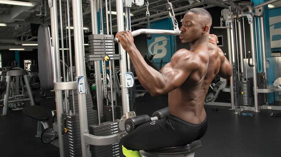 Lat Pulldowns are perfect for wide back