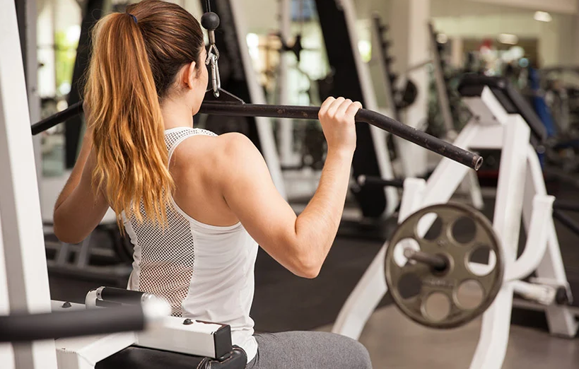 Latpull downs are some of the best exercises for biceps