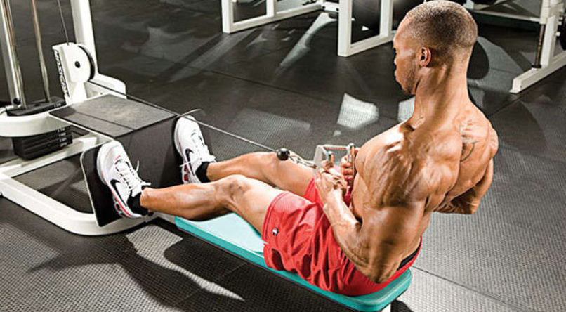 Seated rows work several muscles in the body