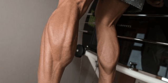 Well toned calf muscles