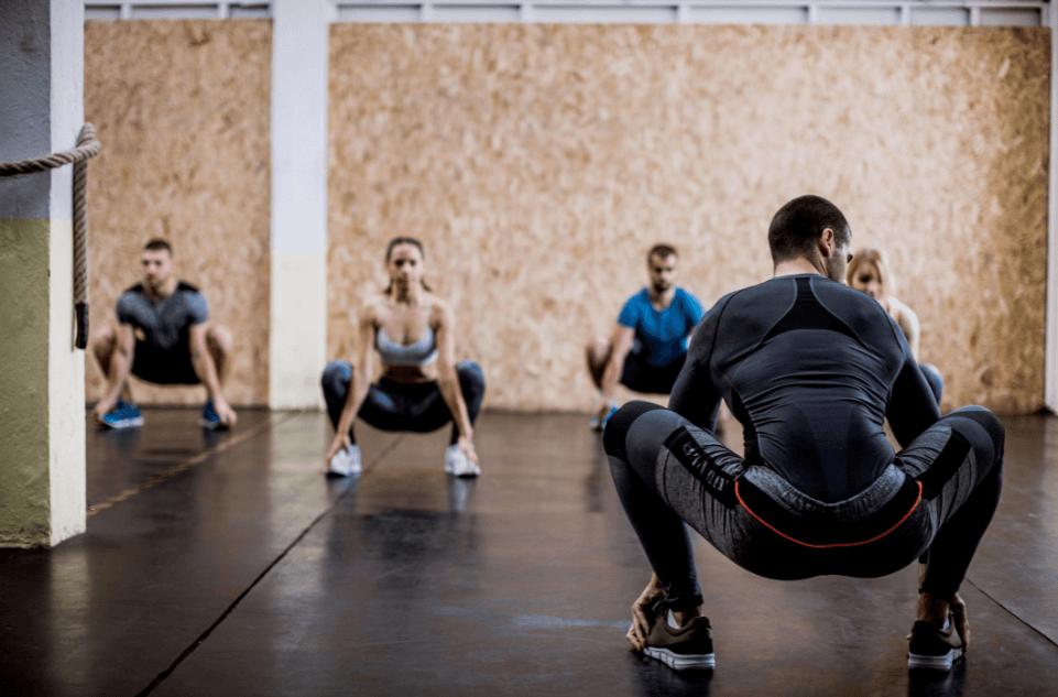 squat hold calf raise exercise