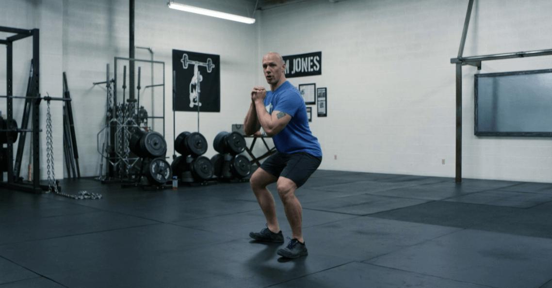 squat hold calf raise instructions